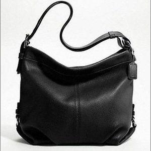 Coach Black Leather Duffle/Crossbody Bag